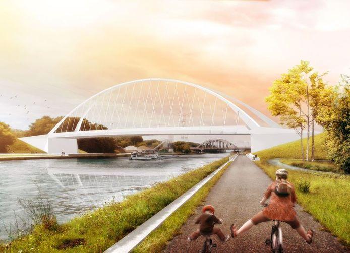 Zo moet de brug aan Lierseweg eruit gaan zien na de verhuis.