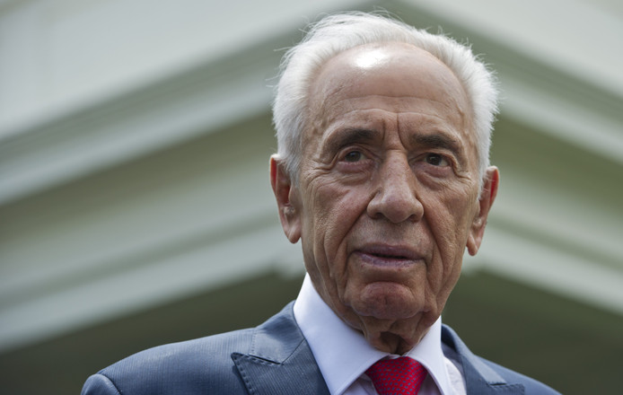 Shimon Peres in 2014.