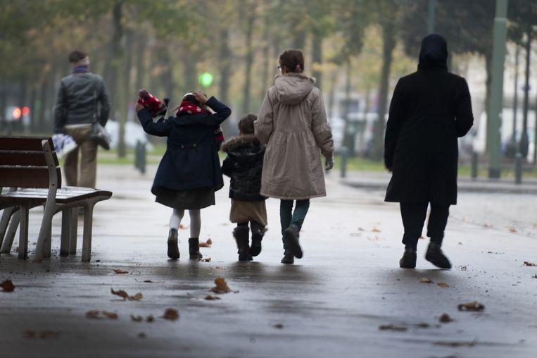 De helft van de Brusselse gezinnen vindt de weg niet naar de juiste ondersteuning. Beeld Foto Baert Marc