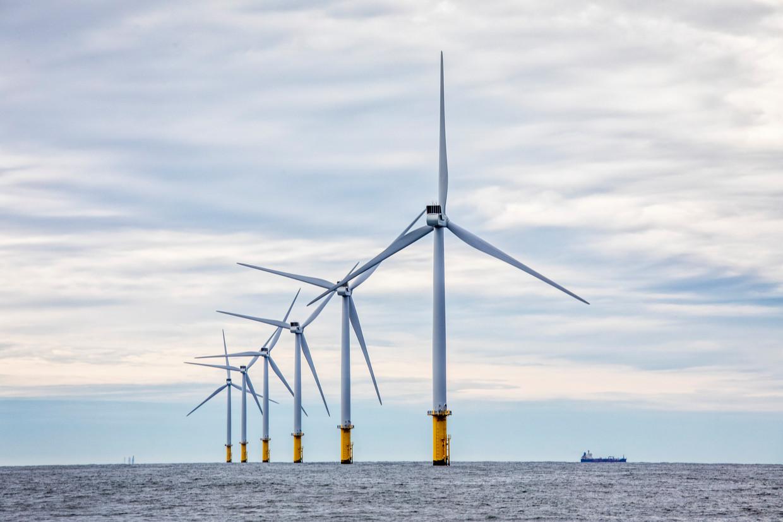Windpark Luchterduinen, ontwikkeld door Eneco. Beeld Raymond Rutting / de Volkskrant
