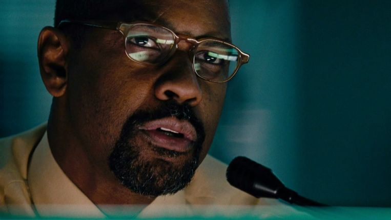 Denzel Washington in The Taking of Pelham 1 2 3 van Tony Scott. Beeld