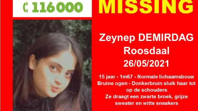 Zeynep Demirdag (15) sinds woensdag vermist