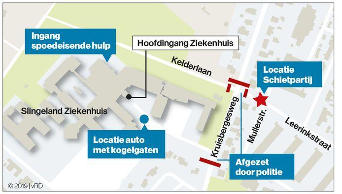 De schietpartij in Doetinchem vond plaats bij het Slingeland Ziekenhuis.