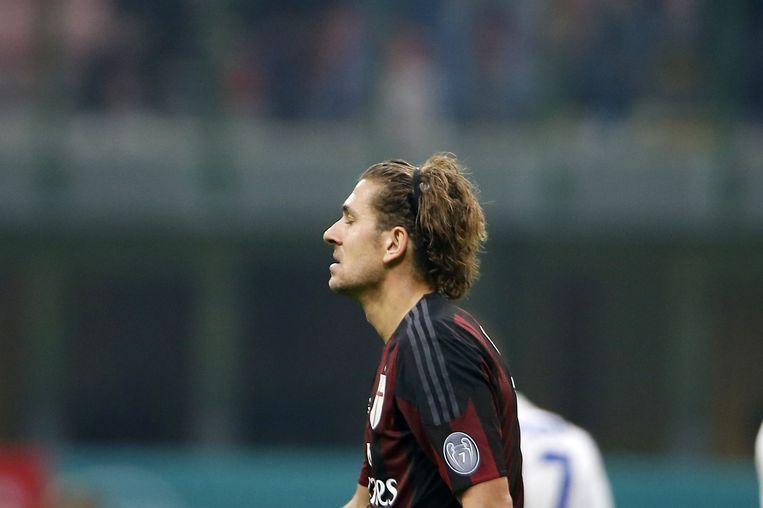 Alessio Cerci in het shirt van AC Milan. Beeld ap