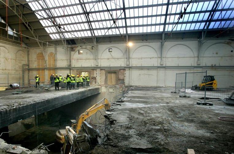 De muren van het Rijksmuseum tijdens de renovatie Beeld anp