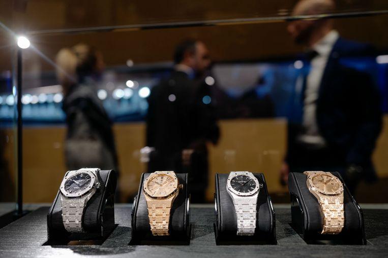 Merken als Rolex, Patek Philippe en Audemars Piguet (foto) hebben een grote aantrekkingskracht op criminelen.  Beeld Hollandse Hoogte / AFP