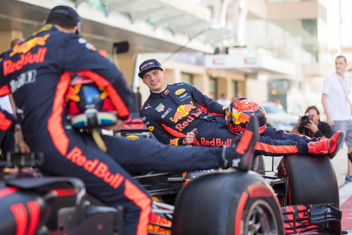 Max Verstappen voorafgaand aan Formule 1 de Grand Prix van Abu Dhabi op het Yas Marina Circuit.