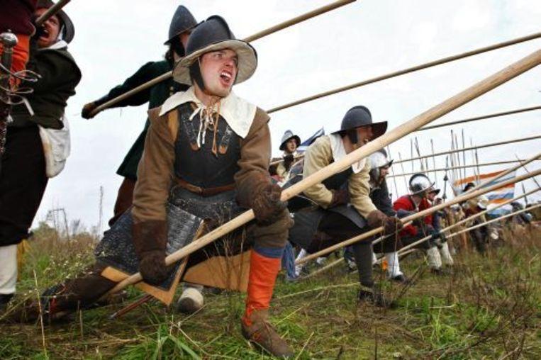 Figuranten spelen de Slag om Groenlo na. ANP Beeld