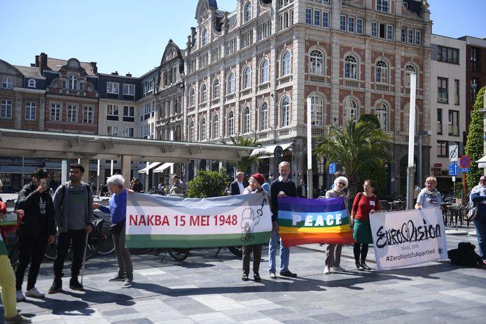 De actievoerders eisen dat Israël het internationaal recht respecteert.