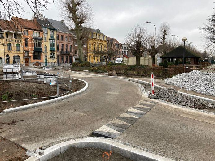 De werken aan het Stationsplein gaan begin maart een nieuwe fase in.