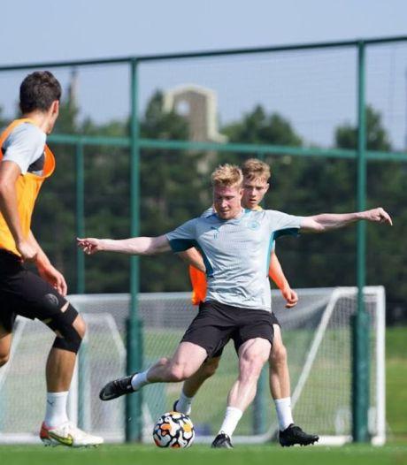 Bonne nouvelle pour City et les Diables: Kevin De Bruyne, souriant, reprend l'entraînement collectif