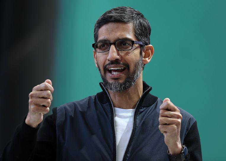 Google-CEO Sundar Pichai. Beeld AFP