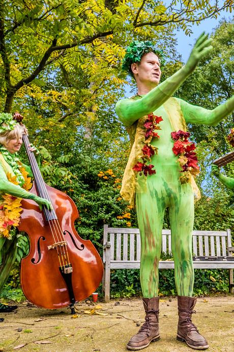 Opvallend groen in jarige Botanische Tuin