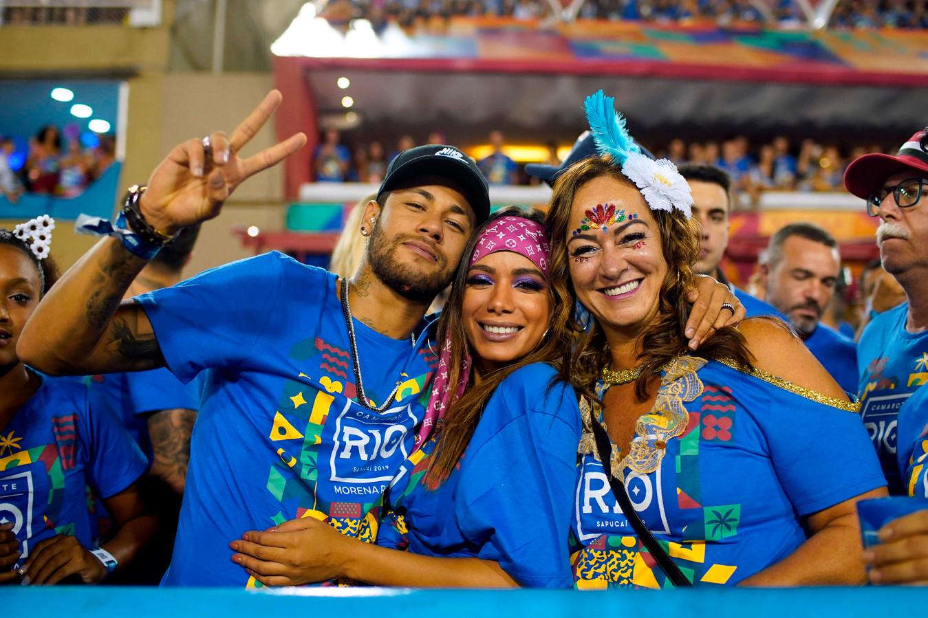 Neymar op het carnaval van Rio in 2019, voorlopig de laatste keer dat hij aanwezig was.