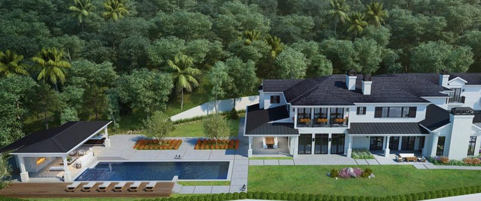 De nieuwe villa van Gwen en Blake.