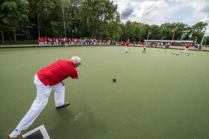 De Enschedese Bowls Vereniging opende enkele jaren geleden de buitenbaan.