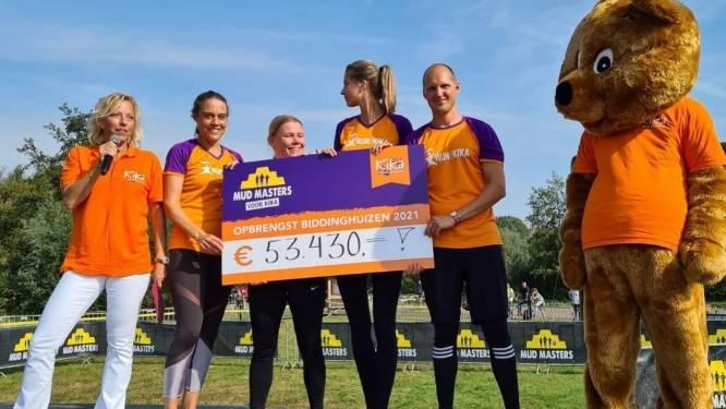 Mud Masters in Biddinghuizen levert ruim 53.000 euro op voor onderzoek naar kinderkanker