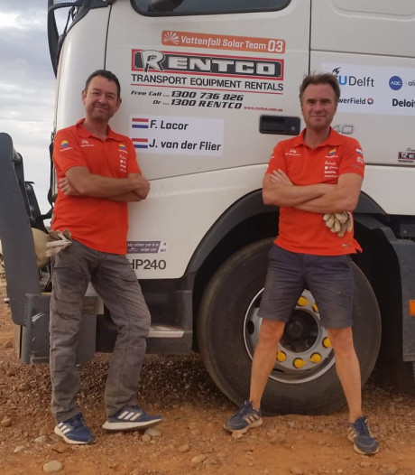 WK zonneracen in Australië eindigt in mineur voor Walcherse vrachtwagenchauffeurs
