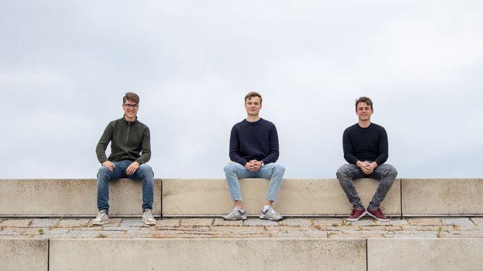 Van links naar rechts: Thomas Klein Goldewijk, Sem van der Linden, Sam Suidman.