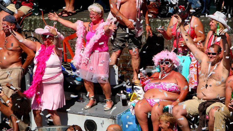 Tijdens Pride Amsterdam mag je zijn wie je bent. Beeld anp