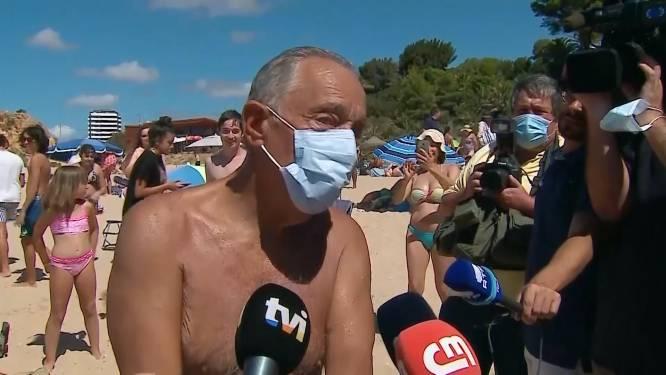 Portugese president (71) springt in zee om twee vrouwen in nood te helpen redden