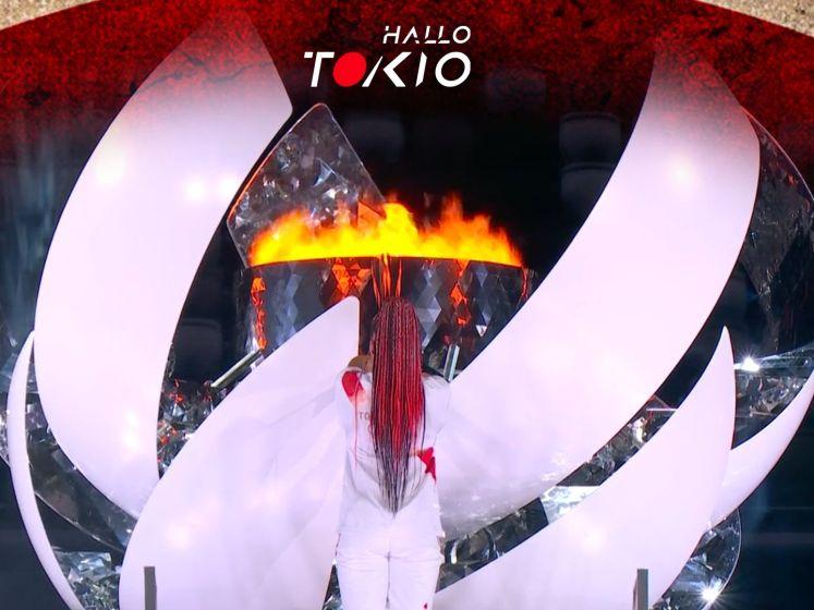 Naomi Osaka ontsteekt olympische vlam in Tokio