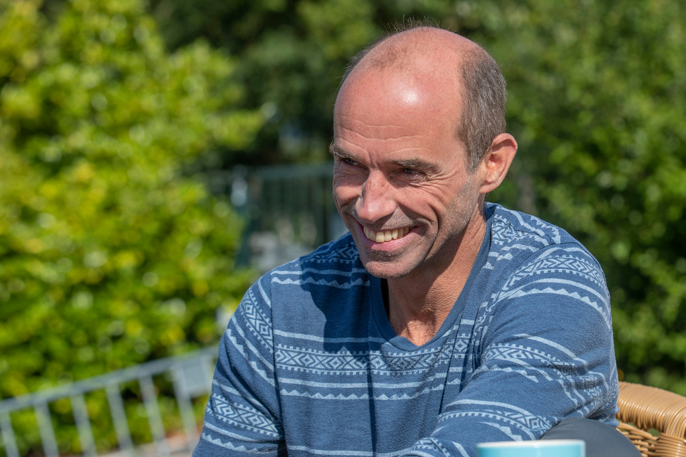 Rik Groenen, een van de deelnemers aan de Swim to Fight Cancer, op 15 september in Eindhoven.