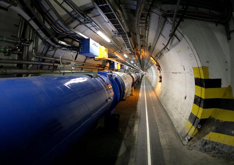 De tunnel van deeltjesversneller LHC bij Cern, Genève.  Beeld AP