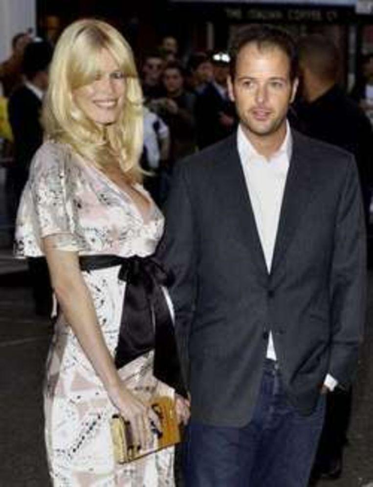 Claudia Schiffer en haar echtgenoot, regisseur Matthew Vaughn. Beeld UNKNOWN