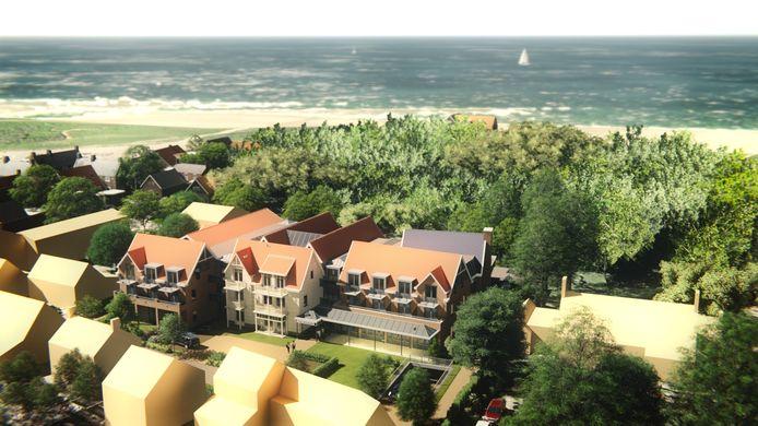 Impressie van het nieuwe hotel De Wigwam