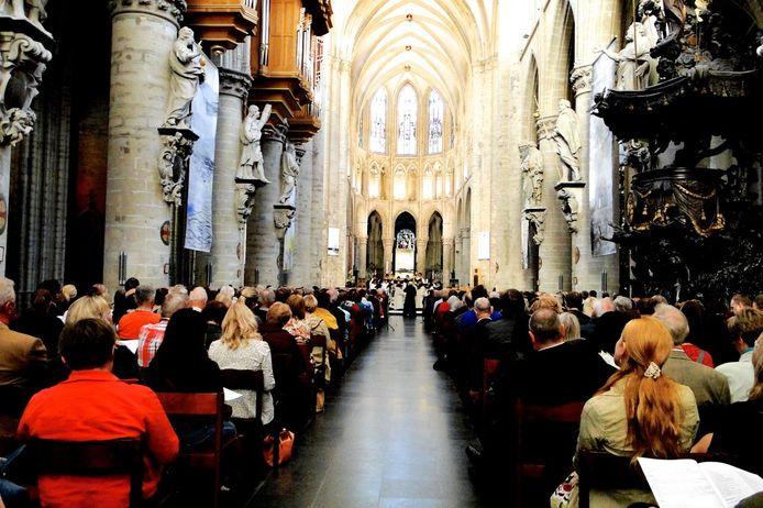 Het Internationaal Gregoriaans Festival van Watou in de Sint-Michielskathedraal van Brussel tijdens een vorige editie.
