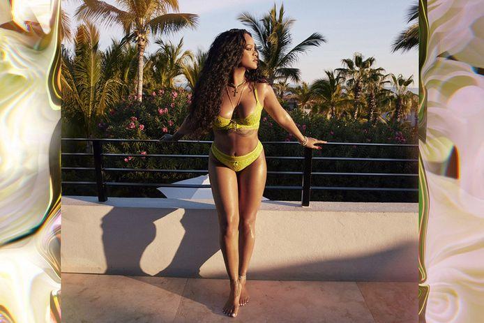 Rihanna in de nieuwe campagne van Savage X Fenty.