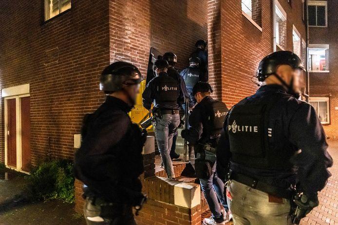 De arrestatie van de verdachten