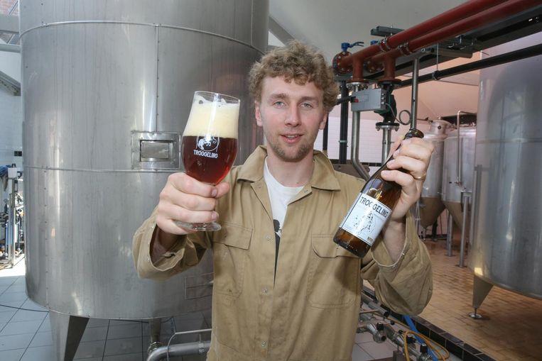 Denis De Wilde uit Merelbeke met Troggeling, een biertje op basis van broodresten.