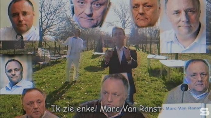 Screenshot clip Marc Van Ranst Lied.