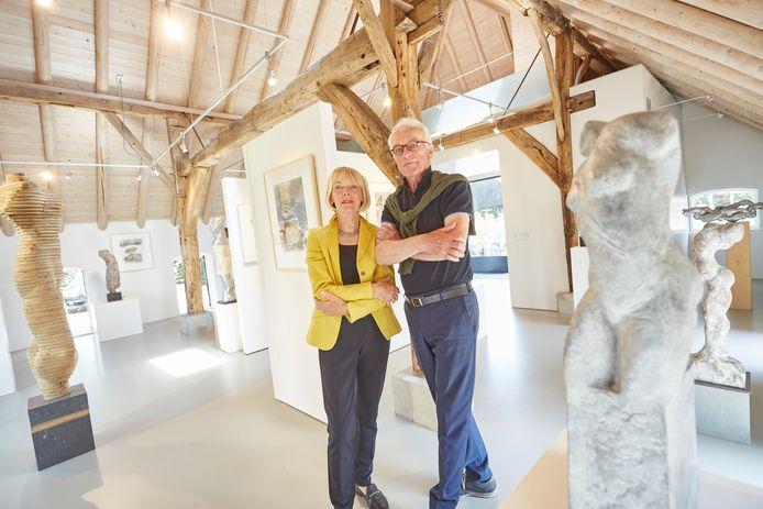 Ad en Ad Borest in hun galerie in Vorden.