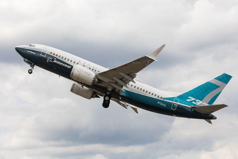 Archiefbeeld. De Boeing 747 MAX staat sinds maart aan de grond, na twee dodelijke crashes op enkele maanden tijd. Daarbij vielen in totaal 346 doden. Beeld Shutterstock