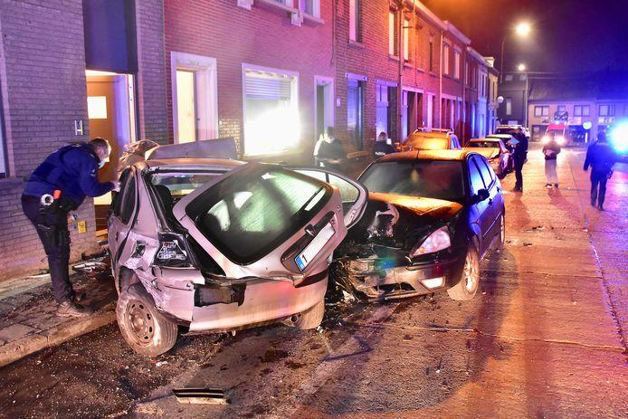 De ravage was enorm, na de zware botsing langs de Lauwestraat in Rekkem.