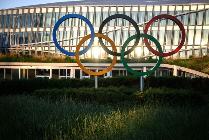 De Olympische ringen.