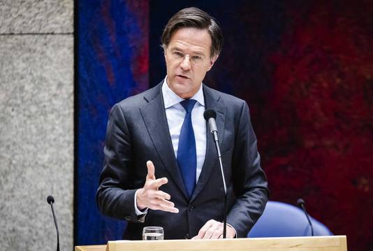 Demissionair premier Mark Rutte