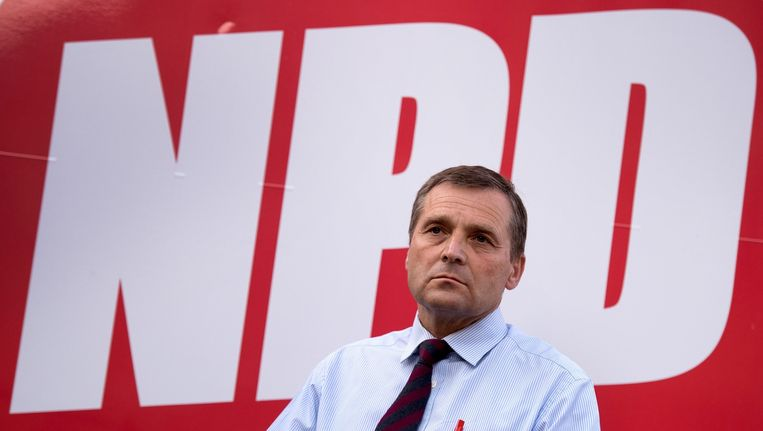 NPD-leider Udo Pastörs. Beeld EPA