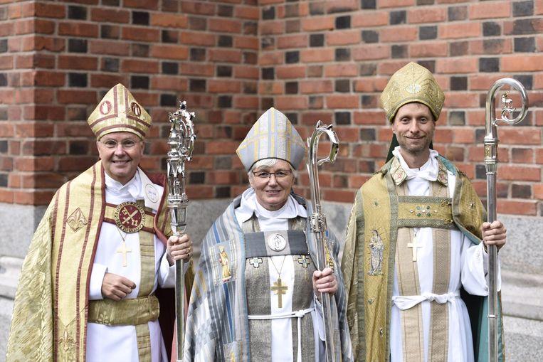 Mikael Mogren (r), bisschop van Västerås wil de kerk toegankelijker maken voor bijvoorbeeld transseksuelen en travestieten Beeld Wikimedia Commons