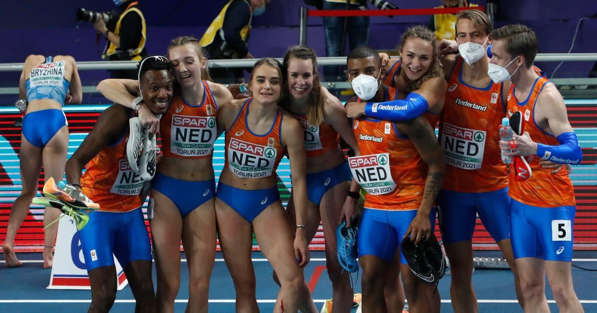 Nederland heerst op estafette en eindigt bovenaan medaillespiegel na formidabel EK indoor - AD.nl