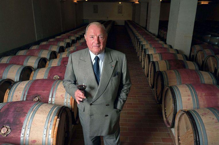 Albert Frère in het wijnkasteel van zijn wijngaard Cheval Blanc in Saint-Emilion. Beeld Photo News