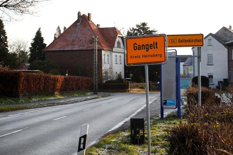 Gangelt ligt aan de grens tussen Duitsland en Nederland.