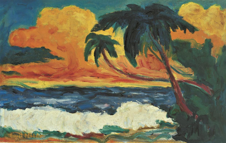 Emil Nolde, Palmen am Meer, 1914.