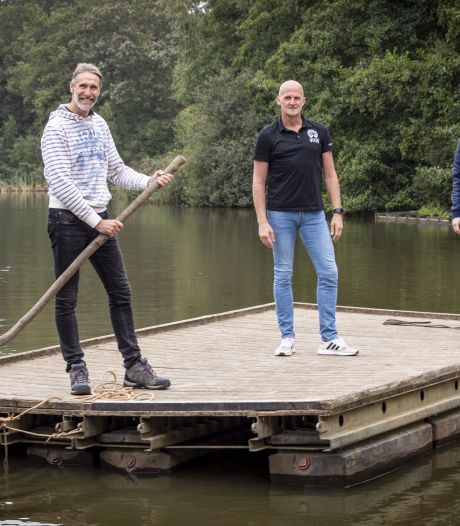 Podia in bos en op water tijdens Enjoy Live Festival op het Hulsbeek