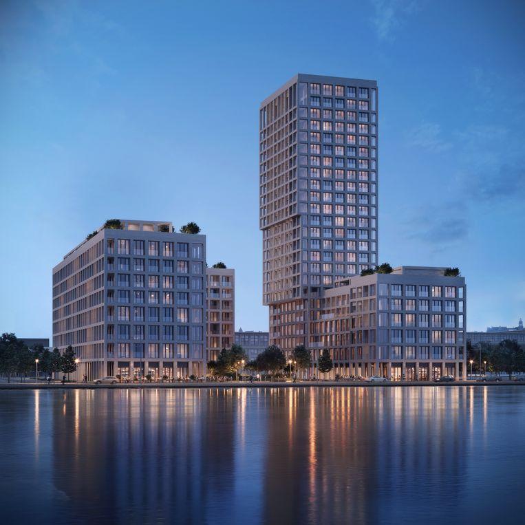 De gebouwen naar een ontwerp van Max Dudler.