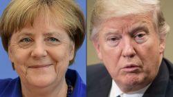 Zo dwong onbuigzame Merkel een perplexe Trump tot dubbele koerswijziging