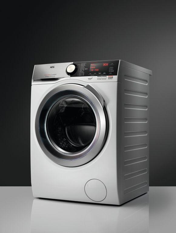 Grote gezinnen hebben wat aan het extra laadvermogen van deze AEG-wasmachine.